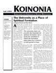 Koinonia by Eugene Peterson, Steve Moore, Mary Carroll Burns, and Carol Sisson