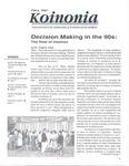 Koinonia by Todd S. Voss, Lee Demarais, Kermit Zopfi, and Norris Friesen