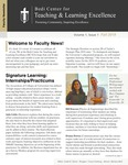 Faculty Newsletter by Linda K. Taylor