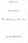 Arlington Carillon (Ayres Alumni Memorial Library 1966)