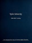 Taylor University Catalog 1986-1988 by Taylor University