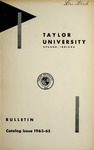 Taylor University Bulletin 1963-1965