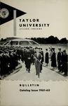 Taylor University Bulletin 1961-1963