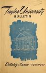 Taylor University Bulletin 1956-1957