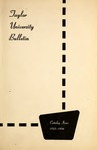 Taylor University Bulletin 1955-1956
