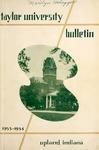 Taylor University Bulletin 1953-1954