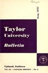 Taylor University Bulletin 1951 by Taylor University