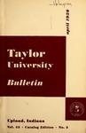 Taylor University Bulletin 1950 by Taylor University