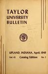 Taylor University Bulletin 1949