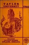 Taylor University Catalog 1944 by Taylor University