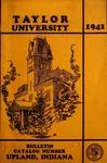 Taylor University Catalog 1941 by Taylor University