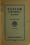 Taylor University Catalog 1934 by Taylor University