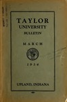 Taylor University Bulletin 1934