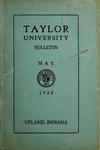 Taylor University Bulletin 1933