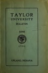 Taylor University Bulletin 1931