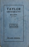 Taylor University Bulletin 1929