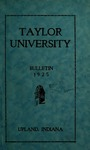Taylor University Catalog 1925 by Taylor University