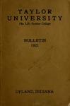 Taylor University Catalog 1921 by Taylor University