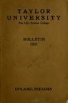 Taylor University Bulletin 1921