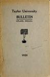 Taylor University Bulletin 1920