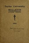 Taylor University Bulletin 1918