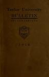 Taylor University Catalog 1916 by Taylor University