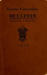 Taylor University Bulletin 1915