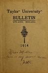 Taylor University Catalog 1914 by Taylor University