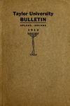 Taylor University Bulletin 1912