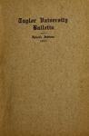 Taylor University Bulletin 1911