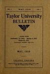Taylor University Bulletin 1910