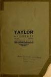 Catalogue of Taylor University 1908