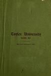 Catalogue of Taylor University 1907-1908