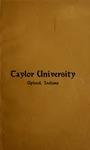 Catalogue of Taylor University 1906-1907