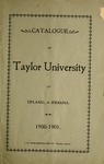 Catalogue of Taylor University 1900-1901