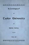 Catalogue of Taylor University 1897-1898 by Taylor University