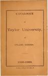 Catalogue of Taylor University 1899-1900 by Taylor University