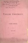 Catalogue of Taylor University 1894-1895 by Taylor University