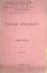 Catalogue of Taylor University 1894-1895
