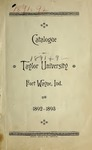 Catalogue of Taylor University 1892-1893