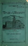 Catalogue of the Taylor University 1890-1891