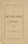 The Fort Wayne College Catalogue 1882-1883