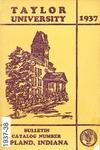 Taylor University Bulletin 1937