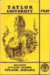 Taylor University Catalog 1940 by Taylor University