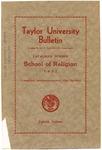 Taylor University Bulletin School of Religion 1937