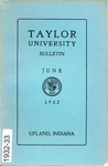 Taylor University Catalog 1932