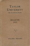 Taylor University Catalog 1922