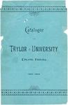 Catalogue of Taylor University 1893-1894
