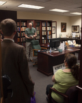 Center for the Study of C.S. Lewis & Friends and Conference Director Joe Ricke showcases items in the Brown Collection