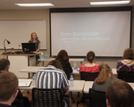 "Allison DeBoer presents ""Tom Bombadil: Lessons from the True Ring Lord"" during the ""Tolkien's Imagination"" session"